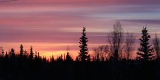 Sunrise in Inuvik, N.W.T. February 2019