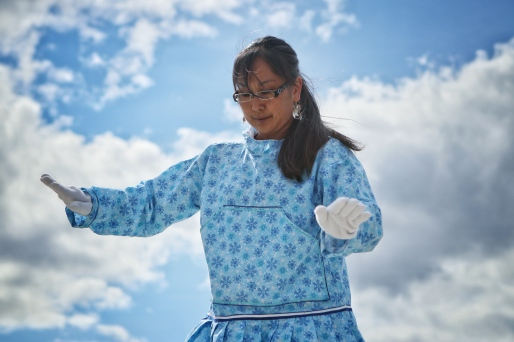 Hester Inuaslurak of the Inuvik Drummers and Dancers. June 5, 2019
