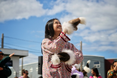 Jade Inuaslurak of the Inuvik Drummers and Dancers. June 5, 2019