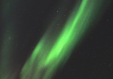 The northern lights dance over Inuvik, N.W.T. February 2019