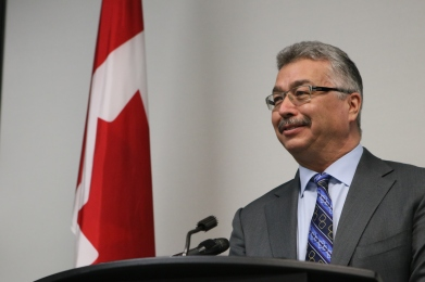 Michael McLeod, the MP for the Northwest Territories, was in Inuvik on March 4, where he announced the federal government's funding contributions to a new diesel power plant in Sachs Harbour, as well as investments in research projects revolving around climate change and permafrost.
