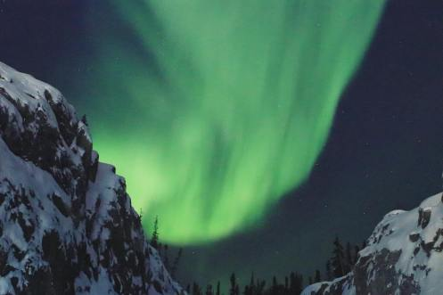 The Northern Lights dance over Yellowknife, N.W.T. January 2019