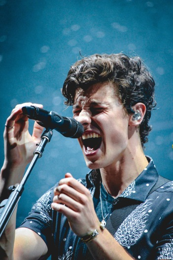 Canadian pop-singer Shawn Mendes performs at the 2018 Ottawa Bluesfest music festival on July 7.