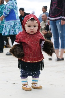 One-year-old Skyler Inglangasuk was one of the hundreds of community members in Inuvik who celebrated the 35th annual Inuvialuit Day on June 5, 2019 at the town's Jim Koe Park.