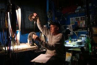 Canadian animated filmmaker Richard Reeves in his home studio in Creston, B.C. December 2020